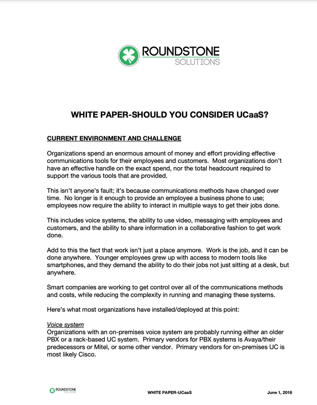 UCaaS white paper cover